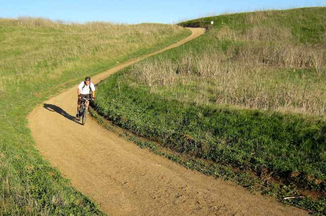 Field riding down South Ridge